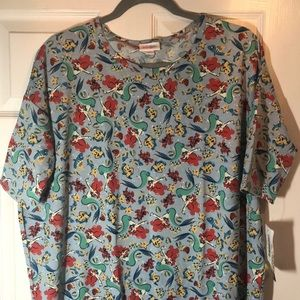 NWT Lularoe Disney Little Mermaid Ariel Irma Top